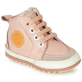 Čevlji  Deklice Visoke superge Robeez MIGO Rožnata