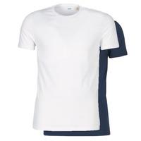 Oblačila Moški Majice s kratkimi rokavi Levi's SLIM 2PK CREWNECK 1 Bela