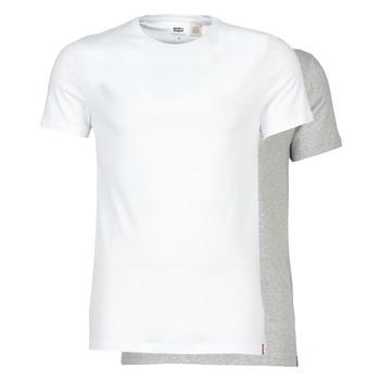Oblačila Moški Majice s kratkimi rokavi Levi's SLIM 2PK CREWNECK 1 Bela / Siva