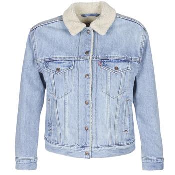 Oblačila Ženske Jeans jakne Levi's EX-BF SHERPA TRUCKER Strangerways