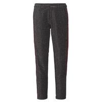 Oblačila Ženske Hlače s 5 žepi Maison Scotch TAPERED LUREX PANTS WITH VELVET SIDE PANEL Siva