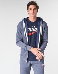 Oblačila Moški Puloverji Nike M NSW HERITAGE HOODIE FZ Modra