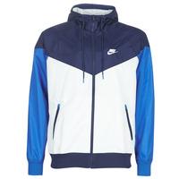 Oblačila Moški Vetrovke Nike M NSW HE WR JKT HD Modra / Bela