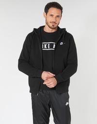 Oblačila Moški Puloverji Nike M NSW CLUB HOODIE FZ BB Črna