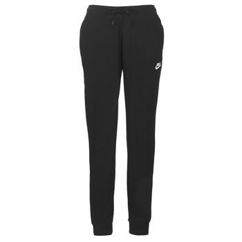 Oblačila Ženske Spodnji deli trenirke  Nike W NSW ESSNTL PANT REG FLC Črna