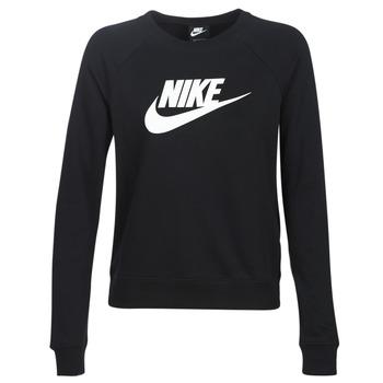 Oblačila Ženske Puloverji Nike W NSW ESSNTL CREW FLC HBR Črna