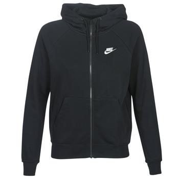 Oblačila Ženske Puloverji Nike W NSW ESSNTL HOODIE FZ FLC Črna