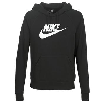 Oblačila Ženske Puloverji Nike W NSW ESSNTL HOODIE PO  HBR Črna