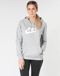 Oblačila Ženske Puloverji Nike W NSW ESSNTL HOODIE PO  HBR Siva