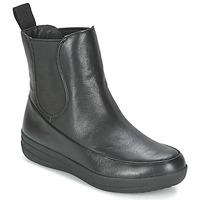 Čevlji  Ženske Polškornji FitFlop FF-LUX CHELSEA BOOT Črna