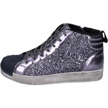 Čevlji  Deklice Visoke superge Holalà BR385 Siva
