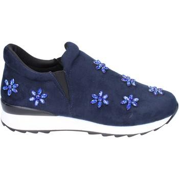 Čevlji  Deklice Slips on Holalà Spodrsniti Na BR386 Modra