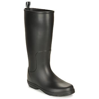 Čevlji  Moški škornji za dež  Isotoner 96523 Črna