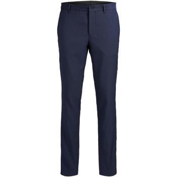 Oblačila Moški Elegantne hlače Jack & Jones 12141112 JPRSOLARIS TROUSER NOOS DARK NAVY Azul marino