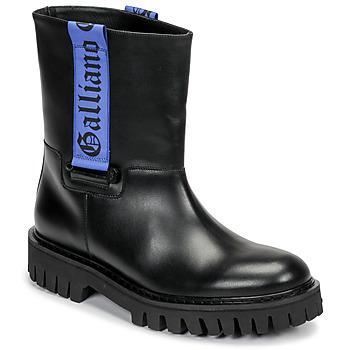 Čevlji  Moški Polškornji John Galliano 8560 Črna / Modra