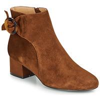 Čevlji  Ženske Gležnjarji André LOUISON Cognac