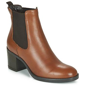Čevlji  Ženske Gležnjarji André MABELLE Cognac