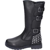 Čevlji  Deklice Mestni škornji    Didiblu BR519 Črna