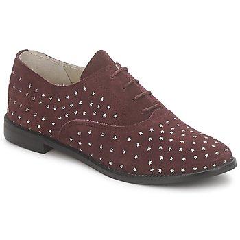 Čevlji  Ženske Čevlji Richelieu Meline DERMION BIS Bordo