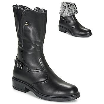Čevlji  Deklice Mestni škornji    André MOSCOU Črna