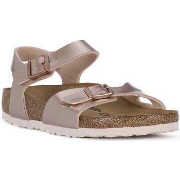 Čevlji  Deklice Sandali & Odprti čevlji Birkenstock RIO METALLIC LILAC Grigio