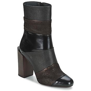 Čevlji  Ženske Gležnjarji Jeffrey Campbell EXEBEND Črna