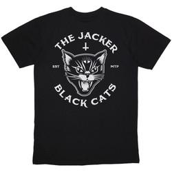 Oblačila Moški Majice s kratkimi rokavi Jacker Black cats Črna