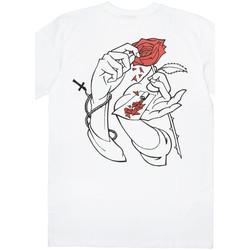 Oblačila Moški Majice s kratkimi rokavi Jacker Holy roses Bela