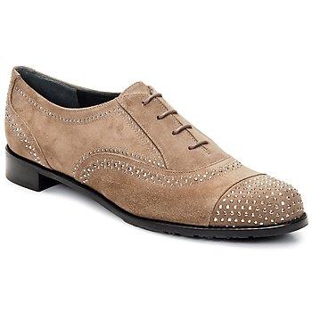 Čevlji  Ženske Čevlji Richelieu Stuart Weitzman DERBY Bež