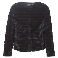 Oblačila Ženske Plašči Lauren Ralph Lauren FAUX CHUBBY Črna