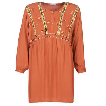 Oblačila Ženske Kratke obleke Betty London LOULIA Oranžna