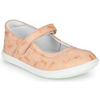 Čevlji  Deklice Balerinke GBB PLACIDA Rožnata