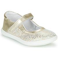 Čevlji  Deklice Balerinke GBB PLACIDA Bela / Pozlačena