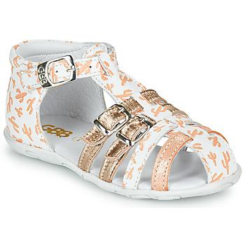 Čevlji  Deklice Sandali & Odprti čevlji GBB RIVIERA Bela / Rožnata