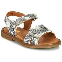 Čevlji  Deklice Sandali & Odprti čevlji GBB CAVOLA Bela / Črna