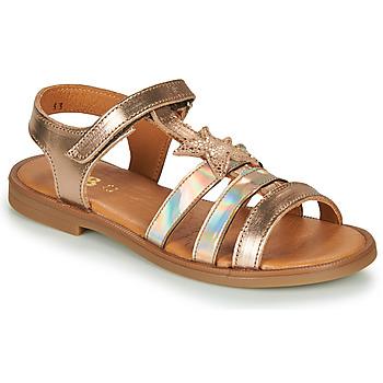 Čevlji  Deklice Sandali & Odprti čevlji GBB OLGA Rožnata / Zlata