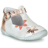 Čevlji  Deklice Balerinke GBB ANAXI Bela / Rožnata / Zlata