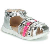 Čevlji  Deklice Sandali & Odprti čevlji GBB PERLE Srebrna