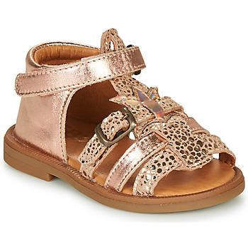 Čevlji  Deklice Sandali & Odprti čevlji GBB CARETTE Rožnata / Zlata