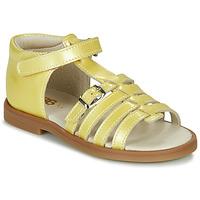 Čevlji  Deklice Sandali & Odprti čevlji GBB ANTIGA Rumena