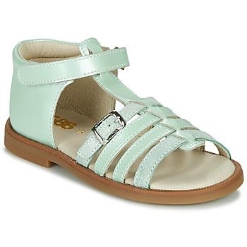Čevlji  Deklice Sandali & Odprti čevlji GBB ANTIGA Zelena