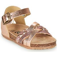 Čevlji  Deklice Sandali & Odprti čevlji GBB ALECTA Rožnata / Zlata