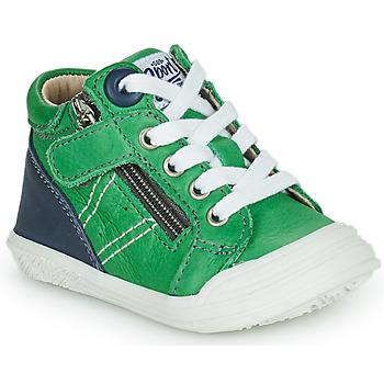 Čevlji  Dečki Visoke superge GBB ANATOLE Zelena