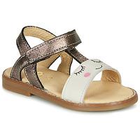 Čevlji  Deklice Sandali & Odprti čevlji GBB NAZETTE Bež / Bronze