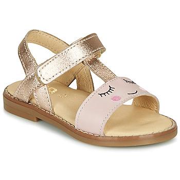 Čevlji  Deklice Sandali & Odprti čevlji GBB NAZETTE Rožnata