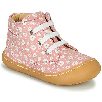 Čevlji  Deklice Visoke superge GBB ATARINA Rožnata