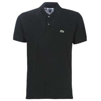 Oblačila Moški Polo majice kratki rokavi Lacoste POLO L12 12 REGULAR Črna