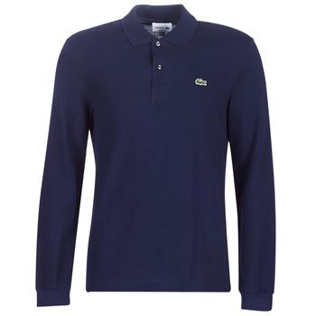 Oblačila Moški Polo majice dolgi rokavi Lacoste L1312 Modra
