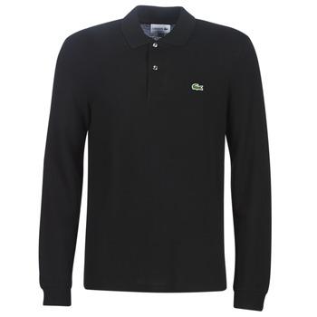 Oblačila Moški Polo majice dolgi rokavi Lacoste L1312 Črna