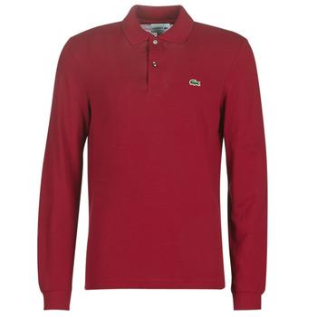 Oblačila Moški Polo majice dolgi rokavi Lacoste L1312 Bordo